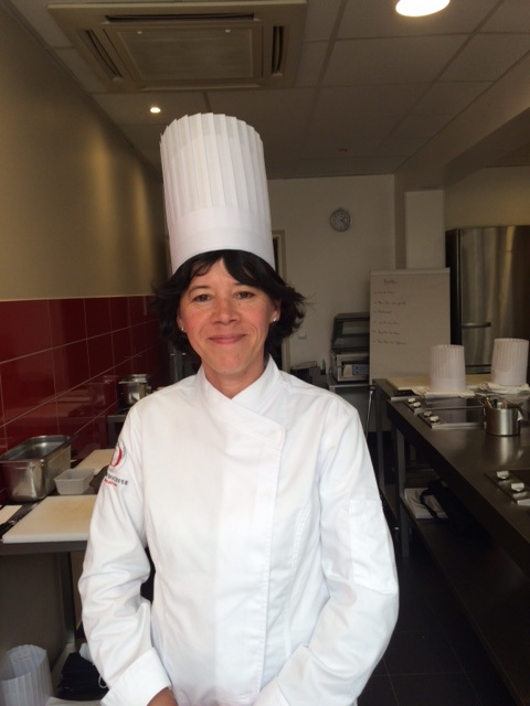 Stéphanie à l'école de cuisine Alain Ducasse