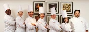 notre équipe à l'école de cuisine Alain Ducasse