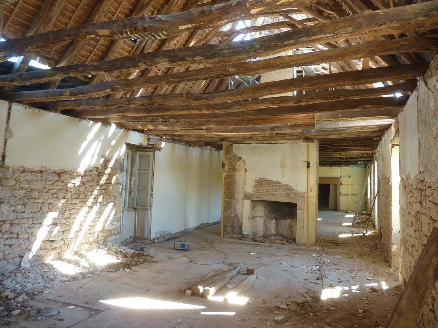 Intérieur de la maison sans les cloisons