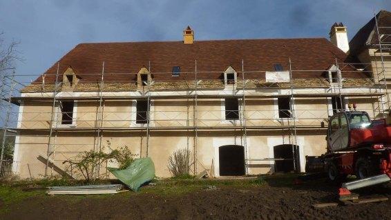 façade sud avec enduit final